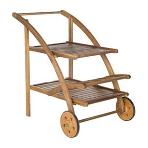 Safavieh 34.3-in Teak Brown Lodi Tea Cart