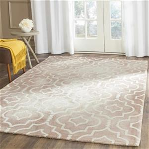 Dip Dye Hand-Tufted Wool Beige and Ivory Area Rug