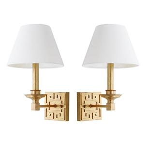 Elvira Greek Key Wall Sconce (Set of 2)