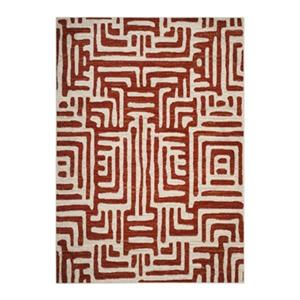 Amsterdam Ivory and Terracotta Area Rug