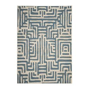 Amsterdam Ivory and Light Blue Area Rug