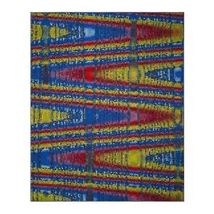 Aztec Blue and Multicolor Indoor Area Rug