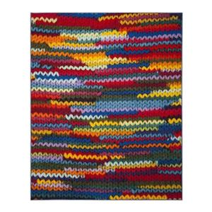 Aztec Coral and Multicolor Indoor Area Rug