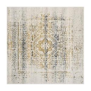 Evoke Ivory and Blue Indoor Area Rug