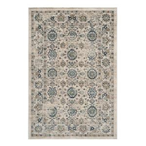 Evoke Beige and Turquoise Indoor Area Rug