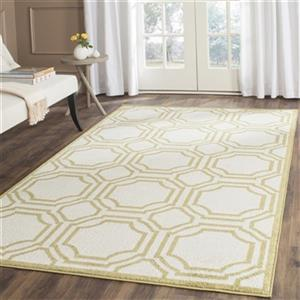 Safavieh Amherst 8-ft x 5-ft Ivory and Light Green Indoor/Outdoor Rug