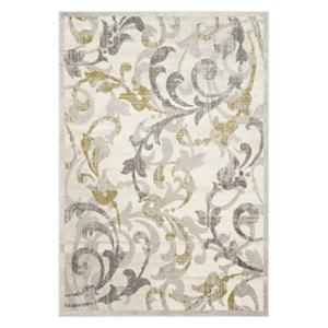 Safavieh Amherst 8-ft x 5-ft Ivory and Light Grey Indoor/Outdoor Rug