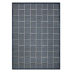 Blue and Grey Cottage Indoor/Outdoor Rug