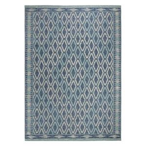Navy and Aqua Courtyard Indoor/Outdoor Rug