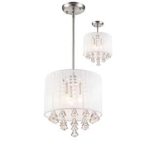 Z-Lite Aura Brushed Nickel 3 Light Pendant Light