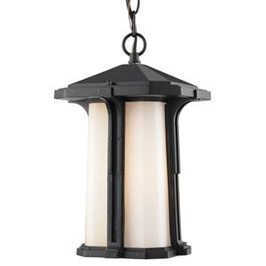Z-Lite Harbor Lane 1-Light Outdoor Suspended Light - Black