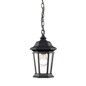 Z-Lite Melbourne 1-Light Outdoor Suspended Light - Black