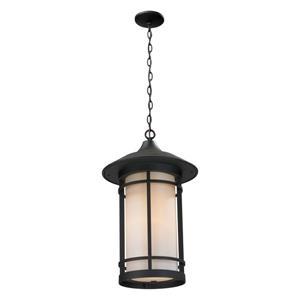 Z-Lite Woodland Outdoor Suspended Light - Black