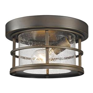 Z-Lite Exterior Additions Oil-Rubbed Bronze 1-Light Outdoor Flush Mount Light