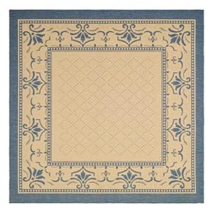 Safavieh Courtyard 7-ft x 7-ft Blue/Cream Indoor/Outdoor Area Rug