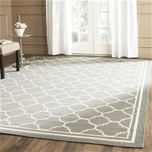 Safavieh Courtyard 2-ft x 20-ft Grey Indoor/Outdoor Area Rug