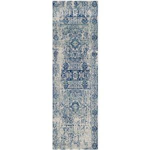 Evoke Ivory and Blue Indoor Area Rug