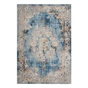 Bristol Blue and Light Grey Area Rug