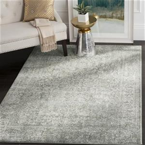 Evoke Silver and Ivory Indoor Area Rug