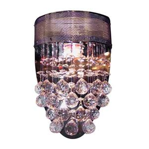Classic Lighting Andromeda 8-in W 1-Light Chrome Crystal Accent Pocket Wall Sconce