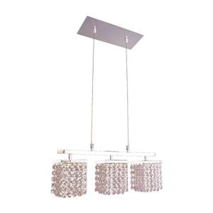 Classic Lighting Bedazzle 18-in W 3-Light Chrome Kitchen Island Light with Crystalique-Plus Crystal Shade