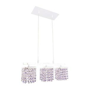 Classic Lighting Bedazzle 3-Light Chrome Kitchen Island Light with Swarovski Elements Medium Sapphire and Clear Crystal Shade