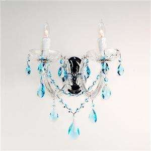 Classic Lighting Rialto 10-in W 2-Light Chrome Crystal Arm Wall Sconce