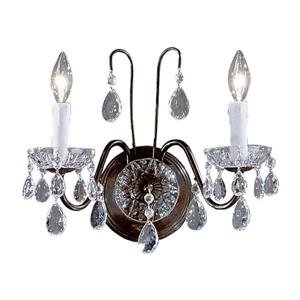 Classic Lighting Daniele 13-in W 2-Light Chrome Crystal Arm Wall Sconce