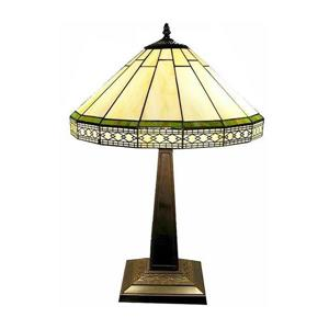 Warehouse of Tiffany Roman 24-in with Bronze Base and Off White Glass Shade Table Lamp