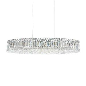 Warehouse Of Tiffany 24-In Single Silver Crystal Pendant Light