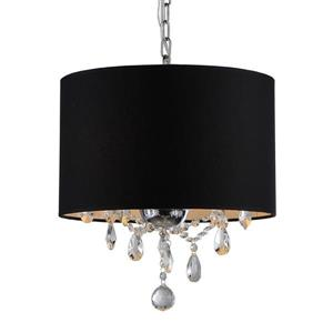 Warehouse of Tiffany Black Transitional Drum Pendant