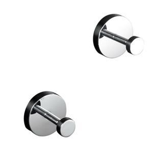 WS Bath Collections Duemila 2-Hook Polished Chrome Towel Hook