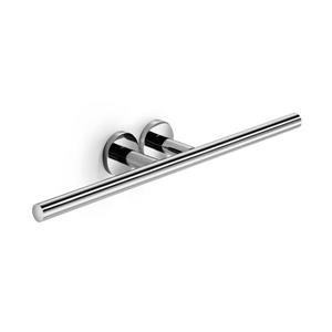 WS Bath Collections Napie 8-in Polished Chrome Double Towel Bar