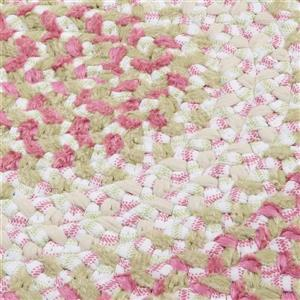 Colonial Mills Blokburst 6-ft x 6-ft Round Handcrafted Tea Party Pink Area Rug