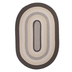 Colonial Mills Brooklyn 4-ft x 4-ft Slate round Indoor/Outdoor Handcrafted Area Rug