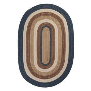 Colonial Mills Brooklyn 2-ft x 10-ft Blue Haze Oval Indoor/Outdoor Handcrafted Runner