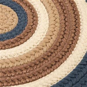 Colonial Mills Brooklyn 7-ft x 9-ft Blue Haze Oval Indoor/Outdoor Handcrafted Area Rug