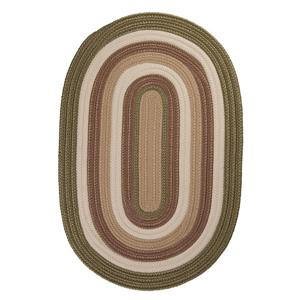Colonial Mills Brooklyn 8-ft x 11-ft Moss Oval Indoor/Outdoor Handcrafted Area Rug