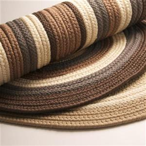 Colonial Mills Brooklyn 3-ft x 5-ft Natural Oval Indoor/Outdoor Handcrafted Throw Rug