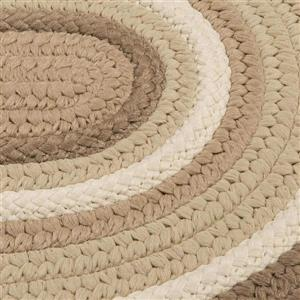 Colonial Mills Brooklyn 5-ft x 8-ft Natural Oval Indoor/Outdoor Handcrafted Area Rug