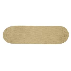 Colonial Mills Boca Raton 8-in x 28-in Linen; Off White Oval Stair Tread Mat - 13/pack