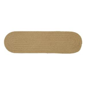 Colonial Mills Boca Raton 8-in x 28-in Oval Cuban Sand Stair Tread Mat - 13/pack