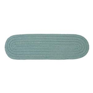 Colonial Mills Boca Raton 8-in x 28-in Oval Federal Blue Stair Tread Mat - 13/pack