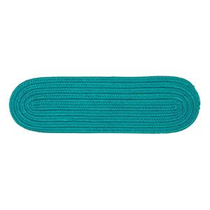 Colonial Mills Boca Raton 8-in x 28-in Oval Turquoise Stair Tread Mat - 13/pack