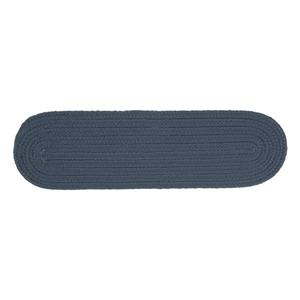 Colonial Mills Boca Raton 8-in x 28-in Oval Lake Blue Stair Tread Mat - 13/pack