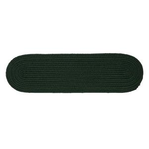 Colonial Mills Boca Raton 8-in x 28-in Oval Dark Green Stair Tread Mat - 13/pack