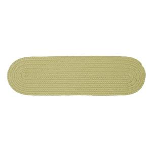 Colonial Mills Boca Raton 8-in x 28-in Oval Celery Stair Tread Mat - 13/pack