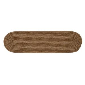 Colonial Mills Boca Raton 8-in x 28-in Oval Cashew Stair Tread Mat - 13/pack