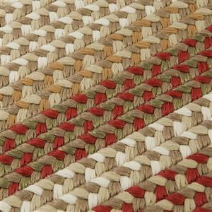 Colonial Mills Burmingham 4-ft x 6-ft Red Barron Oval Indoor Handcrafted Area Rug