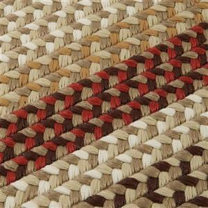Colonial Mills Burmingham 8-ft x 8-ft Brick Brown Round Indoor Handcrafted Area Rug